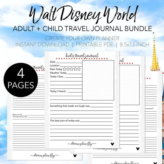 Printable Disney World Travel Journal