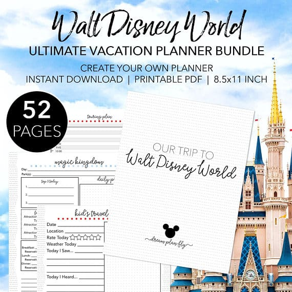 photo about Disney World Printable Tickets named 4 Etsy Printables On your own Require for Your Future Disney holiday vacation -