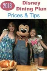2018 Disney Dining Plan Prices & Tips
