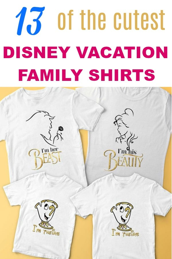 Cutest Disney family vacation shirts