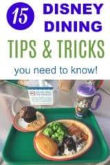 Disney dining secrets, tips & tricks
