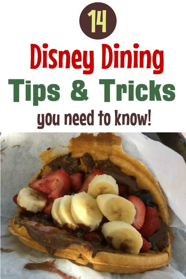Disney World Dining Tips and Tricks
