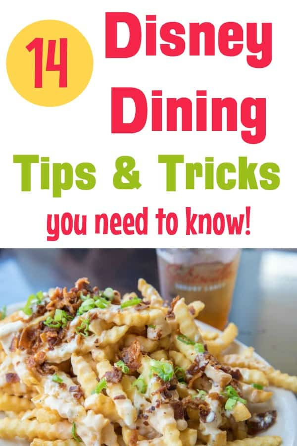 Disney World Food and Dining tips