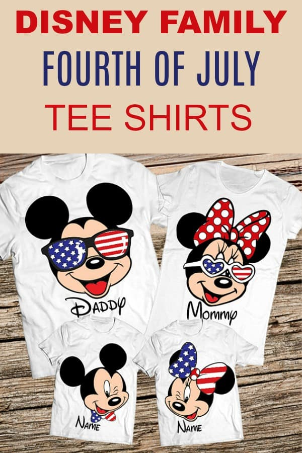 Matching Disney Family Vacation shirts Fourth of July T-Shirts