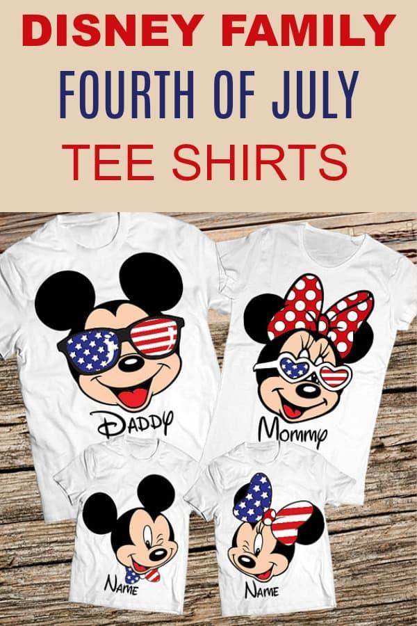 9677739bc Matching Disney Family Vacation shirts Fourth of July T-Shirts