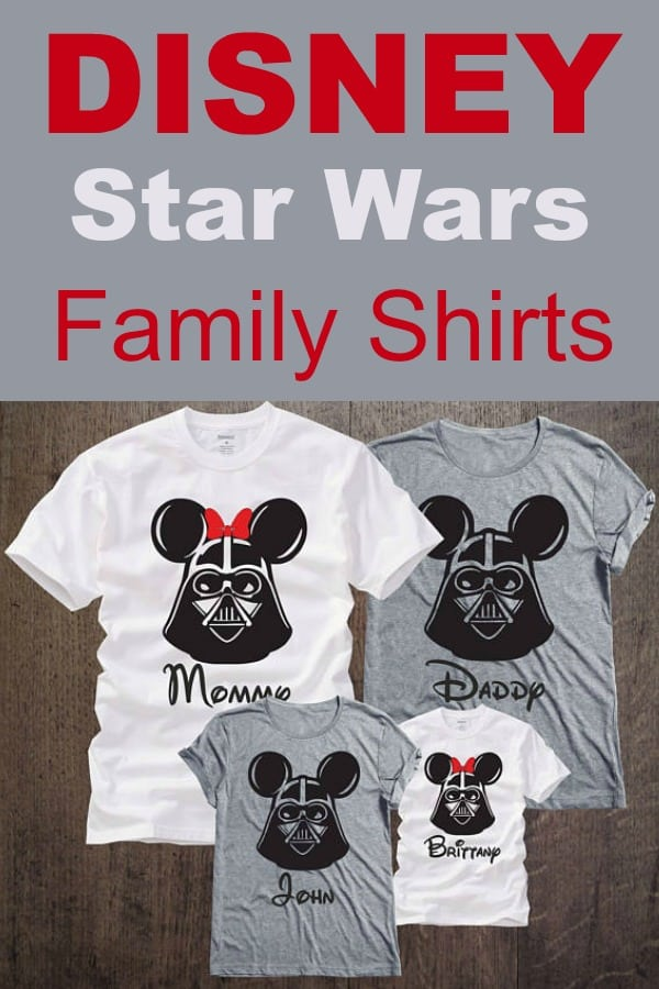 Disney Vacation Star Wars Family Shirts