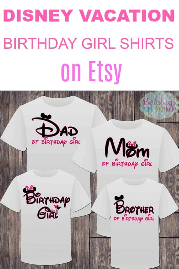 Disney Vacation Birthday GIrl Shirts on Etsy