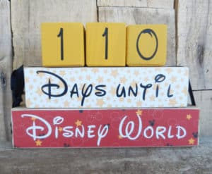 Disney World Countdown Blocks