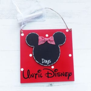 Hanging Minnie Mouse Sign