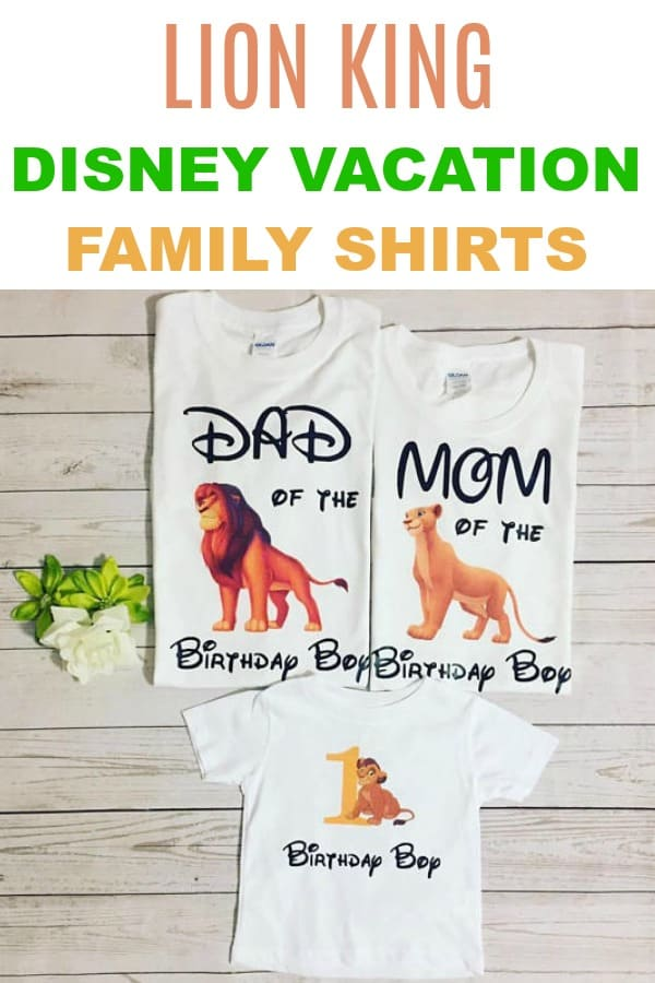 Family Lion King Shirt Ideas for Disney Vacations -- from Etsy