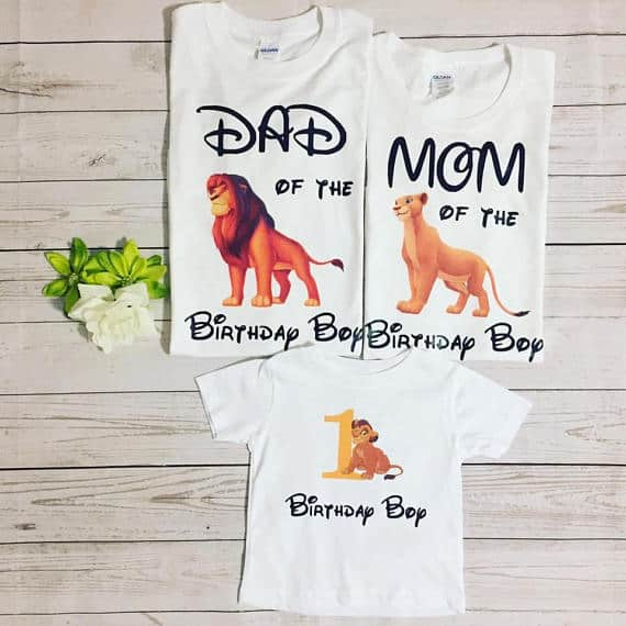 Lion King birthday shirts