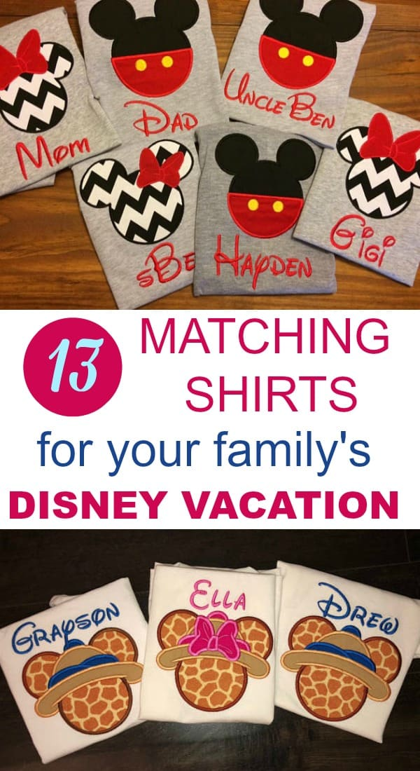 13 Awesome Matching Disney Family Shirts (November 2018)