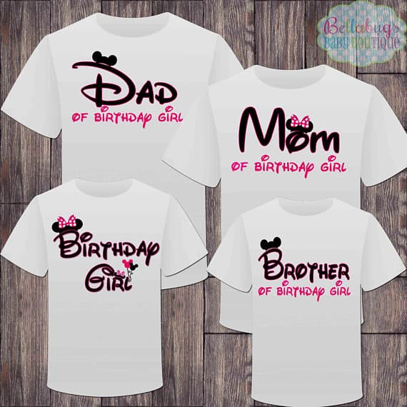 Matching family birthday shirts