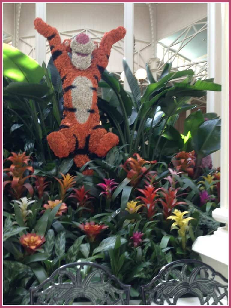Tigger at Crystal Palace in the Magic Kingdom