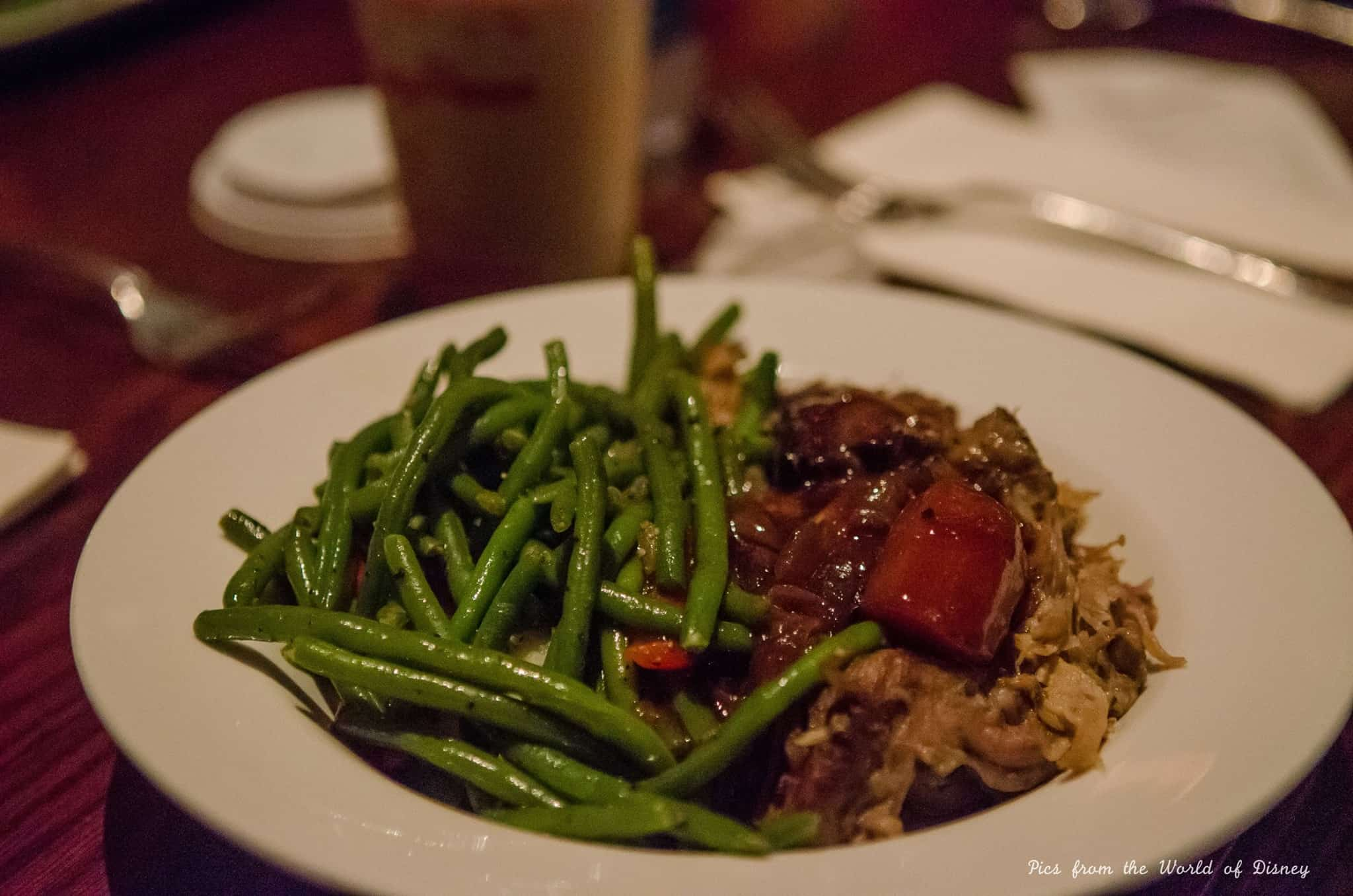 Dinner at Be Our Guest restaurant in Walt Disney World