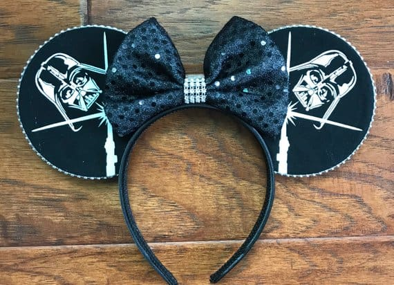 Glow in the Dark Darth Vader Mouse Ears