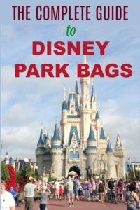 Complete Guide to Disney Park Bags