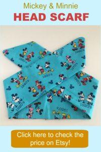 Mickey & Minnie Head Scarf on Etsy