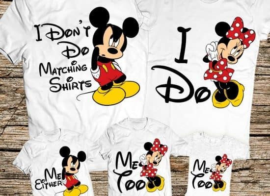 13 Cute and Funny Matching Disney Family Vacation Shirts