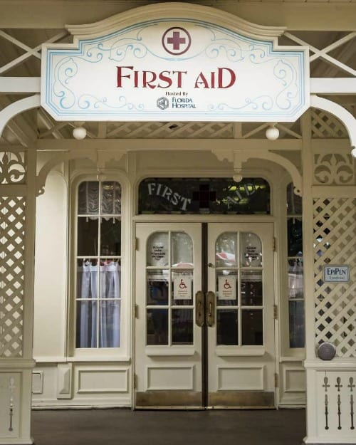 First aid center at Disney parks
