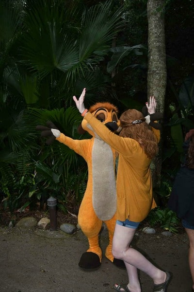 Meeting Timon at Walt Disney World