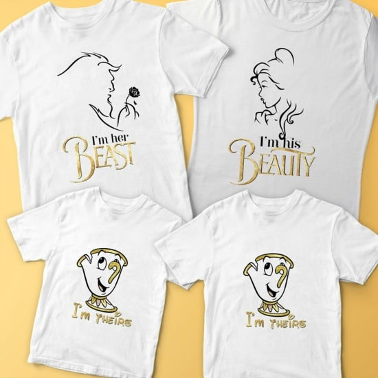 Matching Beauty and the Beast Family shirts