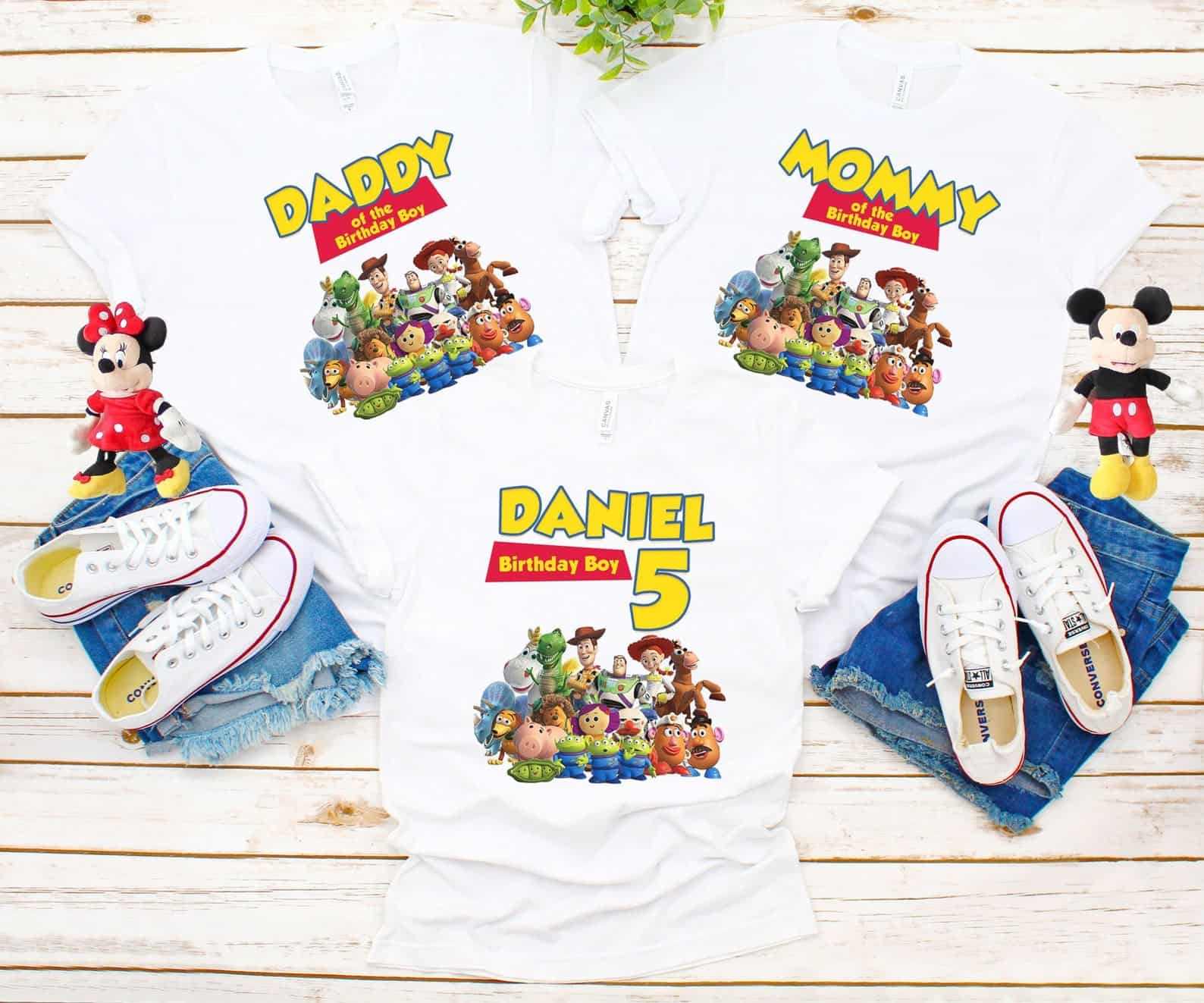 Toy Story Family Birthday Shirts