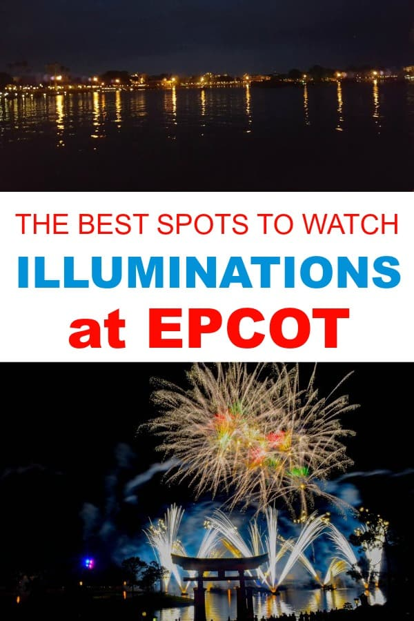 The best viewing spots for Illuminations, the fireworks show at Epcot. Includes restaurants, Epcot resort hotels, and hotels in the Orlando area outside the park