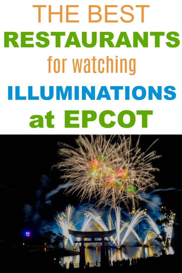 Best Restaurants for Watching Illuminations firework show at Epcot
