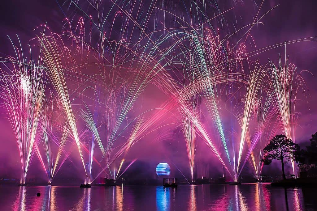 Illuninations fireworks show at Epcot World Showcase