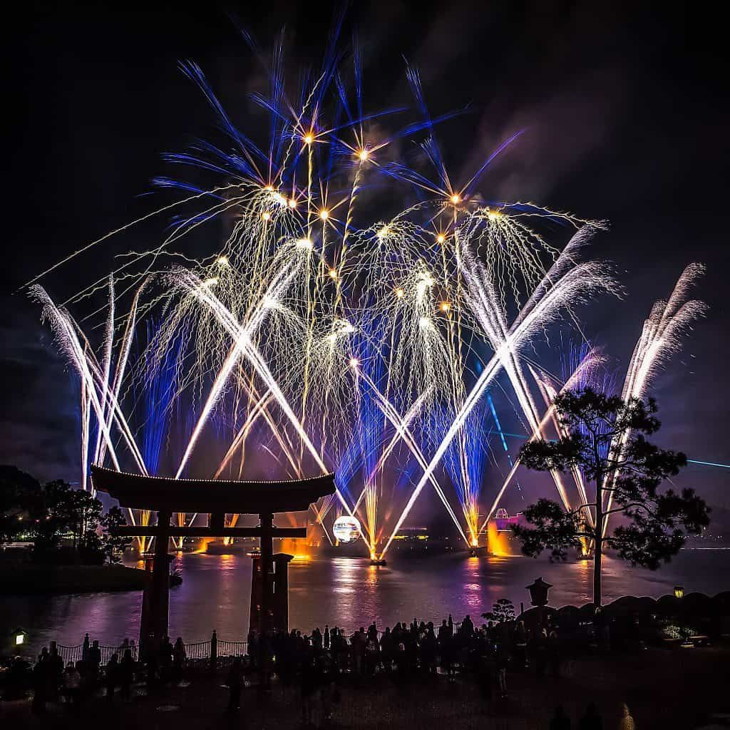Illunminations fireworks show at Epcot