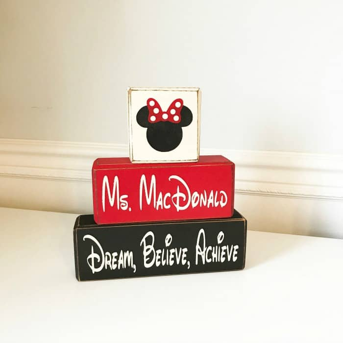 Minnie Mouse personalized gift for teachers