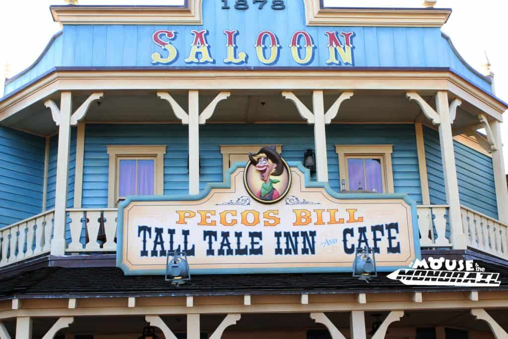 Pecos Bill quick service restaurant in the Magic Kingdom Frontierland