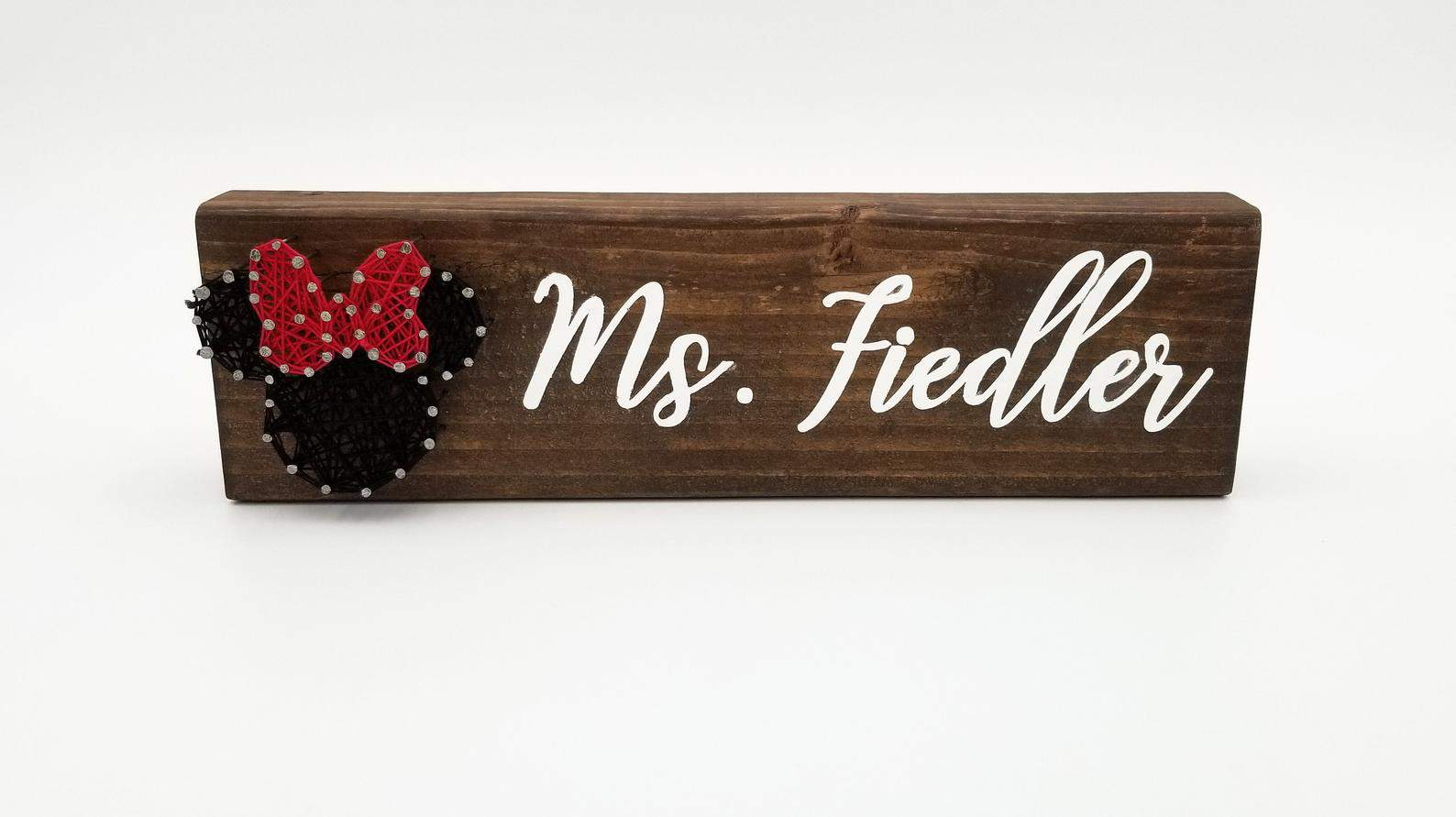 Personalized Minnie Mouse Disney gift for teachers