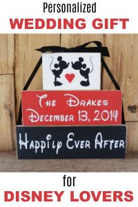 Personalized Wedding Gift for Disney Lovers
