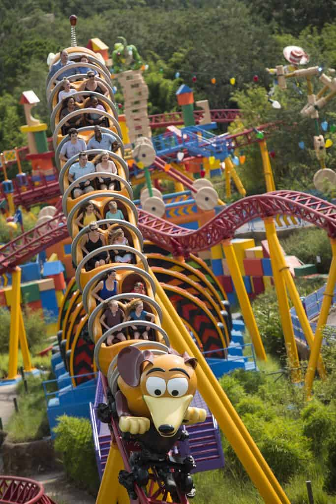 Slinky Dog Dash in Toy Story Land, a Tier 1 Ride one of the best rides in Hollywood Studios to get a Fastpass for