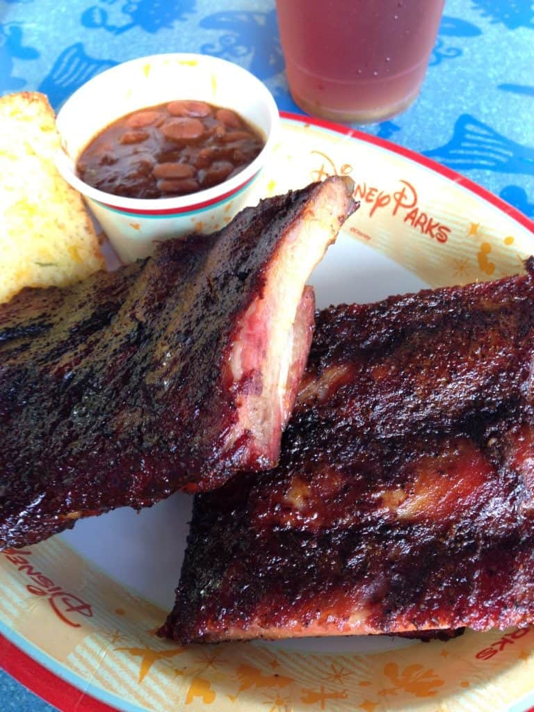 St Louis Rib Dinner from Flame Tree BBQ in Animal Kingdom