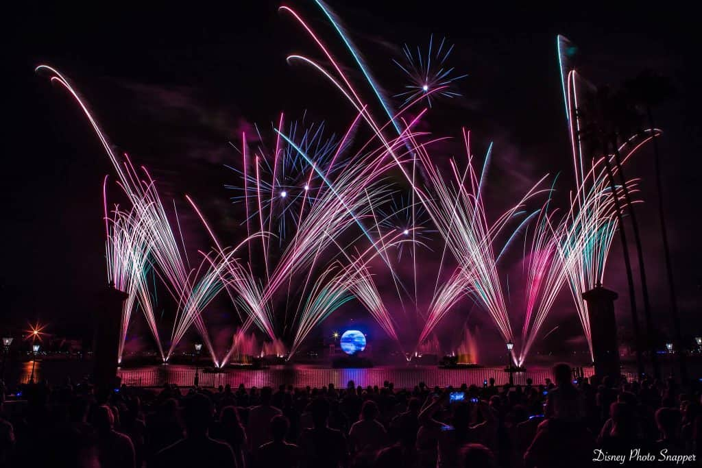 Illuminations Reflections of Earth from Fastpass Viewing Area in Epcot