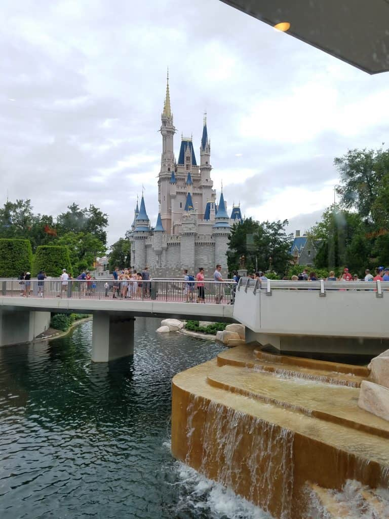 View of the Cinderella Castle from Cosmic Rays