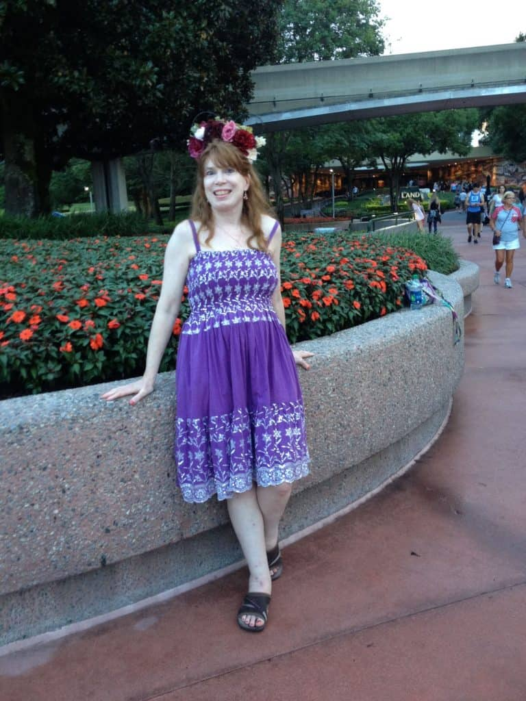 Sequin Embroidered Bodice Knee Length Dress for Disney World