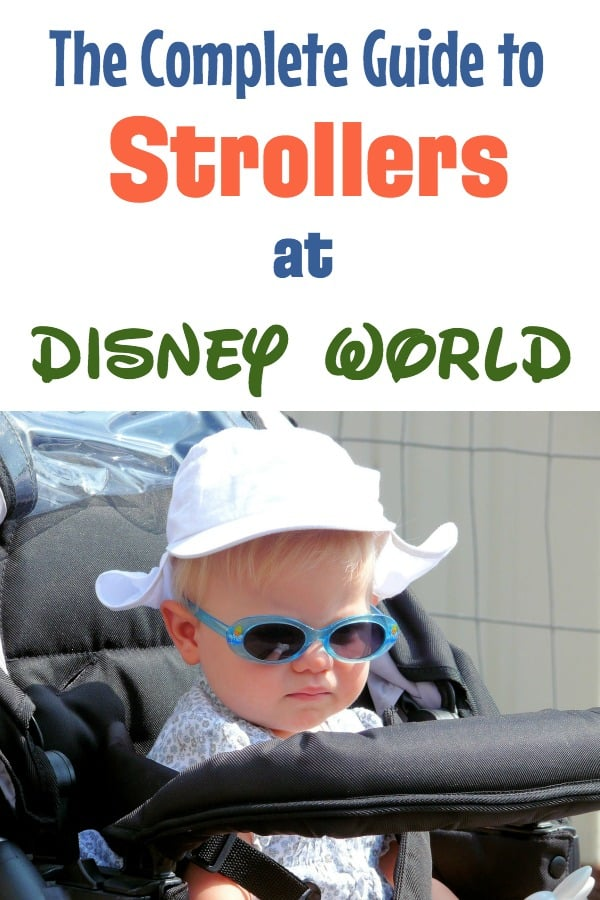 Walt Disney World vacation planning tips — The Complete guide to strollers. Covers the best inexpensive stroller for Disney, how to decorate your stroller at Disney World, Disney World stroller policy, and getting a double stroller on Disney buses.