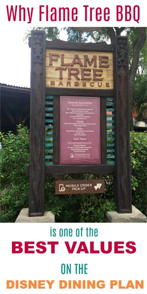 Why Flame Tree BBQ is one of the best values on the Disney Dining Plan