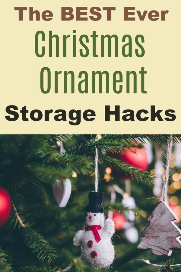 Best Ever Christmas Ornament Storage Hacks