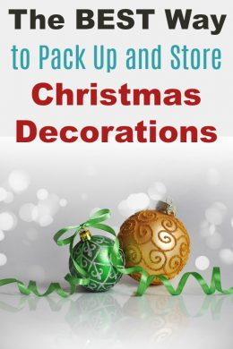 Best Way to Pack up and Store Christmas Decorations