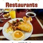 Best Walt Disney World Restaurants for kids and first time visitors