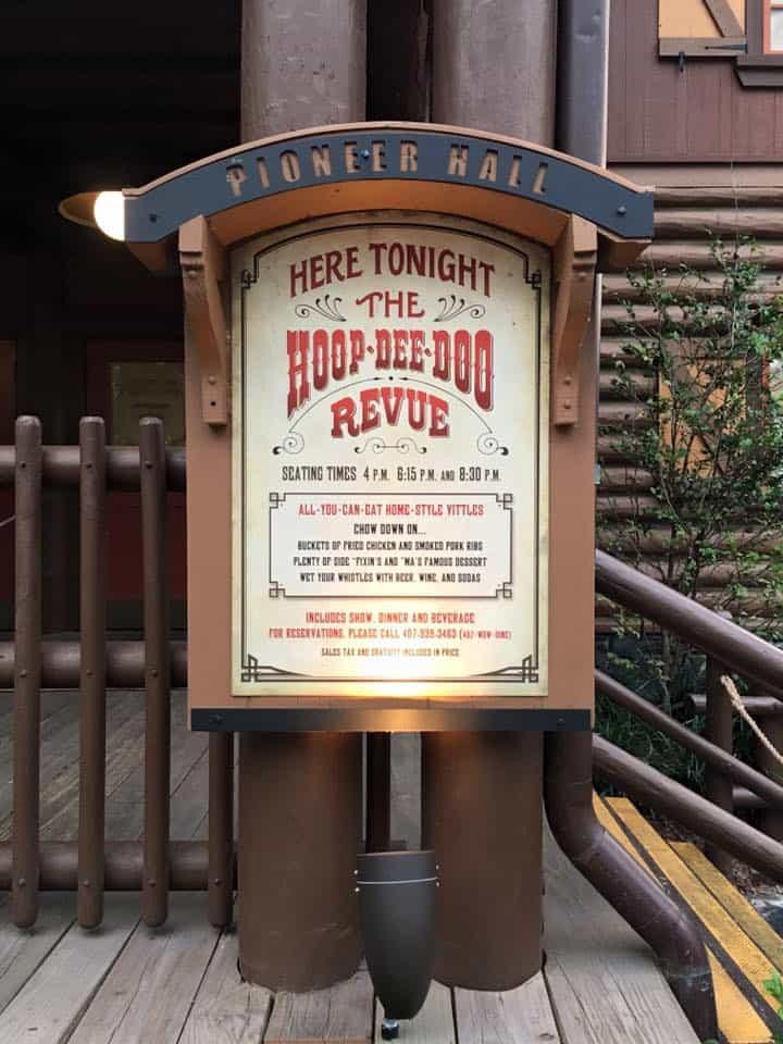 Hoop De Doo Revue Sign