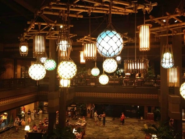 Lobby at Disneys Polynesian resort