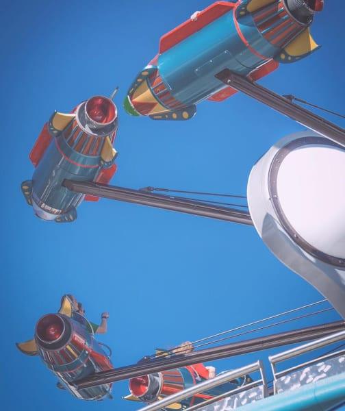 Astro Orbiter ride at Magic Kingdom
