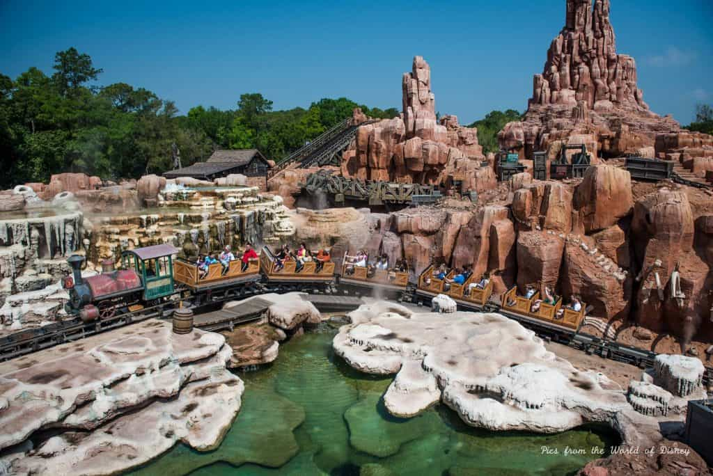 Big Thunder Railroad Mountain in Frontierland in the Magic Kingdom