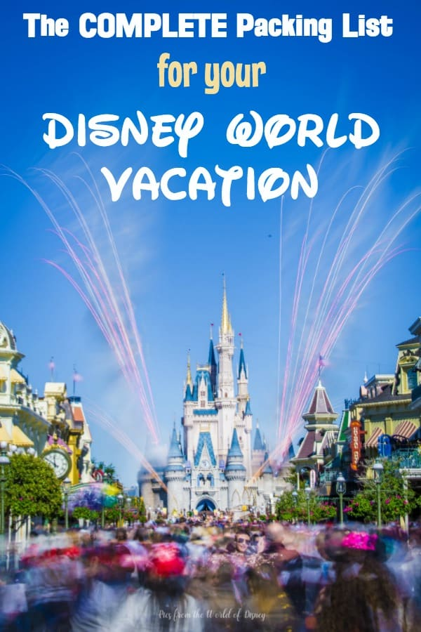 Disney World Packing List with Free Printable Checklist (August 2019)